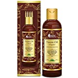 Oriental Botanics Organic Neem Oil for Hair and Skin Care - With Comb Applicator - Pure Oil with No...