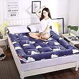 zyl Colchón Plegable de Tatami Grueso colchón de futón se Puede Doblar y enrollar para colchón de Dormitorio de...