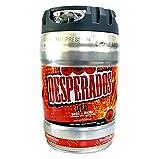 Desperados de cerveza roja con tequila, guaraná, cachaca, barril de fiesta, barril de 5 litros, incl. Tap 5.9% vol.