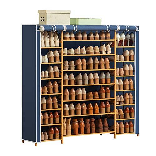 Yingm Zapatero para Dormitorio O Pasillo Los gabinetes de gabinete de Almacenamiento y clasificación de Zapatos Son fáciles de ensamblar con Cubierta de Tela Oxford Ideal De Pasillo