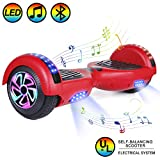 HOVER-ONE 6.5' Self-Balancing Self-Balancing Electric Scooters, 2 Wheels Self Balancing Hoverboard, with Bluetooth, LED Light Hoverboard for Kids and Adults (with Free Carry Bag and UK Plug)