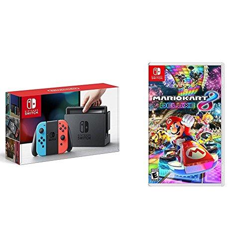 Nintendo Switch Neon + Mario Kart 8 Deluxe - Mario Kart 8...