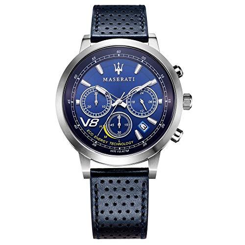 Reloj para Hombre, Colección GT, Movimiento de Cuarzo, cronógrafo, en Acero y Cuero - R8871134002