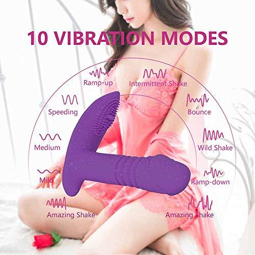 LuxTai V/brăte speelgoed voor vrouwen, oplaadbare Mâssâger met 10 krachtige snelheden, draagbare draadloze afstandsbediening B'ut'terfly Strapless