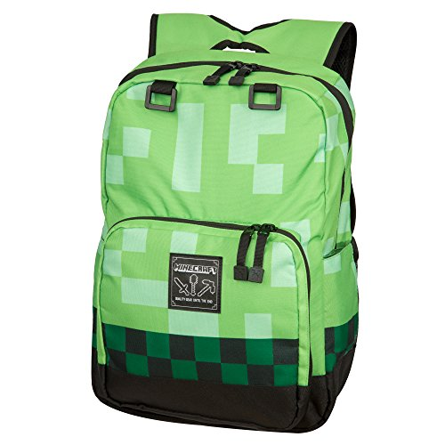 Jinx Minecraft Backpack Equipaje Infantil 44 Centimeters Verde (Green)