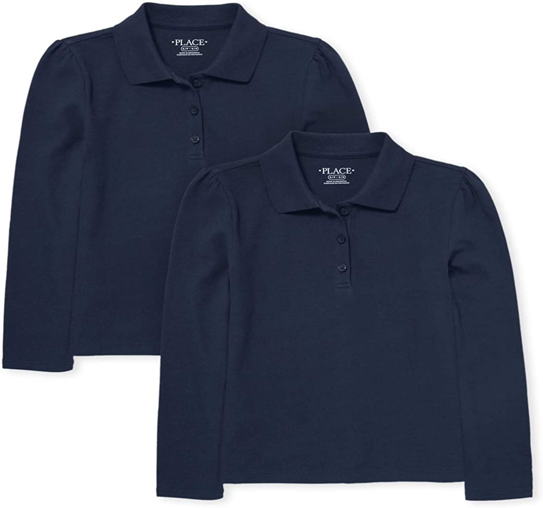 The Children's Place Girls' Long Sleeve Pique Polo
