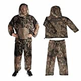 LOOGU Mosquito Suits, Net Bug Pants & Jacket Hood Sets - Ultra-fine Mesh Summer Wear for Outdoor Protection from Bugs, Flies, Gnats, No-See-Ums & Midges - Fishing, Hiking, Camping
