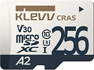 エッセンコアクレブ KLEVV microSDXC 256GB UHS-I U3 V30 A2 最大読込:100MB/s 4K対応 Nintendo Switch 動作確認済 永久保証 K256GUSD6U3-CA