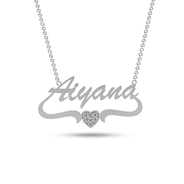 Personalized Customized Name Heart Necklace for Teen Women