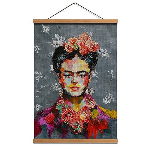 HW Hongwu Poster mit Holzrahmen, Leinenbild, Leinen, Kunstdruck, 39,9 x 61 cm Modern 15.8x24 inch Künstler