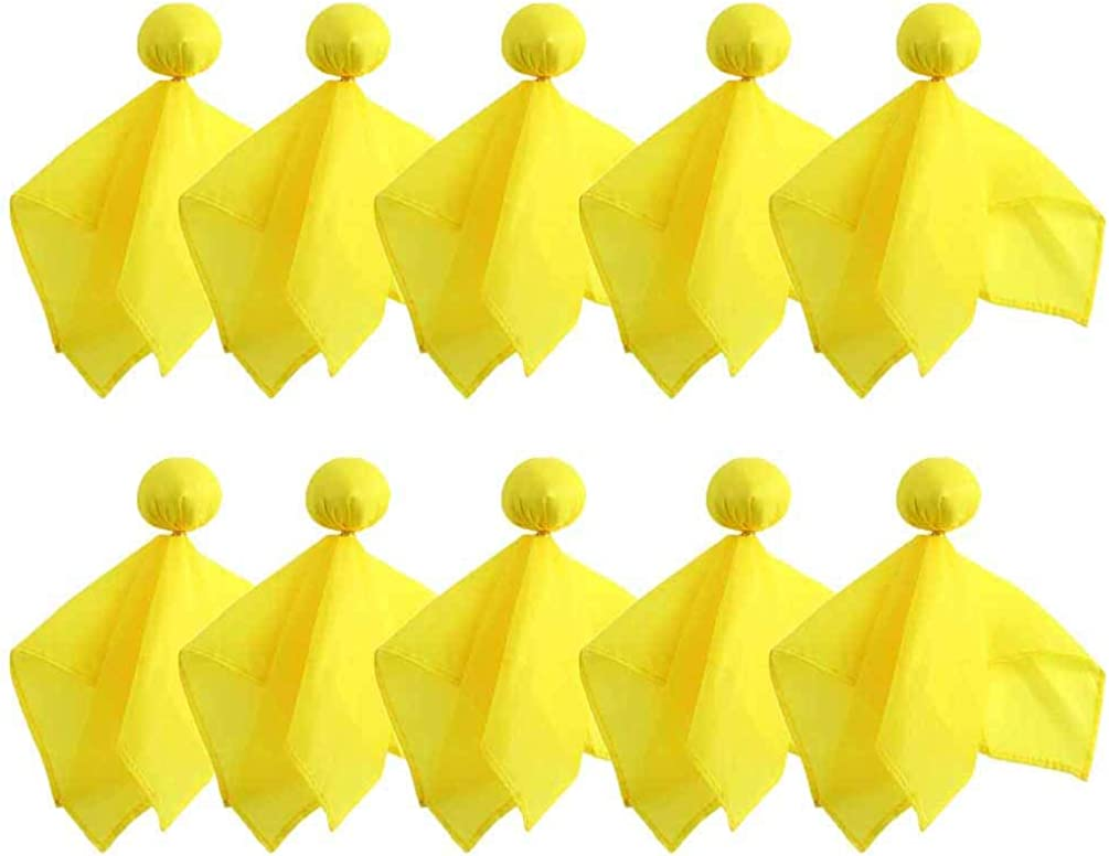 10 Pieces Penalty Flag Yellow Football Sports Tossing Fan 5 Be super welcome ☆ popular Flags