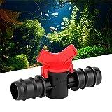 Interruptor de válvula de tanque de peces adecuado, agua de peces, agua de control de agua, flujo de agua de control de flujo de agua (negro + rojo)