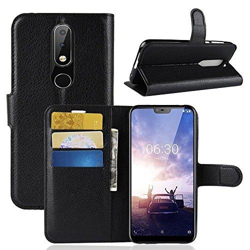 """compatibile per NOKIA 6.1 PLUS/Nokia X6 schermo 5.8"""" Custodia COVER case STAND FILP magnetica LIBRO protezione GEL silicone tpu PORTAFOGLIO eco pelle porta carte"""