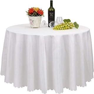 Femor Lot de 30 Nappe Blanche Nappe de Table Nappe Ronde pour Maison Restaurant Mariage Cérémonie (228cm)