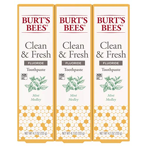 Burt's Bees Toothpaste, Natural Flavor With Fluoride Clean &...