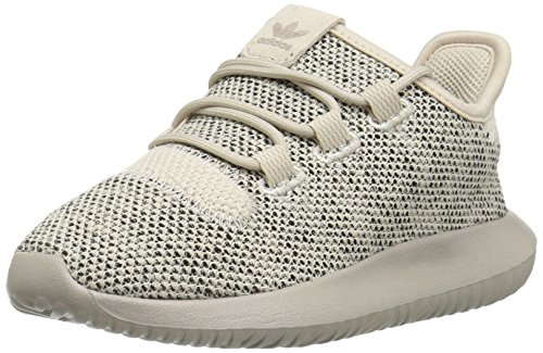 adidas Originals Boys' Tubular Shadow Running Shoe, Clear/Brown/Collegiate Silver/Black, 2.5 M US Little Kid