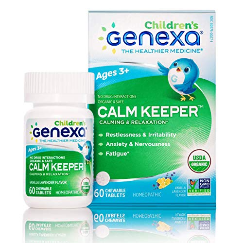 Genexa Calm Keeper for Children – 60 Tablets | Certified Organic & Non-GMO, Physician Formulated, Homeopathic | Calming & Relaxation Aid for Children
