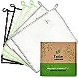 teroboo - 6er Set - Premium Bambus Reinigungstücher, Allzwecktücher, Bambus Küchentücher, Bambus Spültuch, Bambus Putztücher, Putzlappen Bambus, Bambustücher waschbar, umweltfreundlich, nachhaltig
