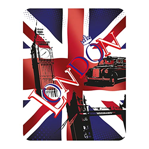 3D LiveLife Magnet - Union Jack from Deluxebase. Lenticular 3D London Fridge Magnet. Magnetic decor for kids and adults with original artwork.