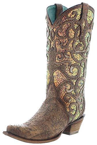Corral Boots Dames Cowboy laarzen C3467 lederen laarzen Western laarzen bruin