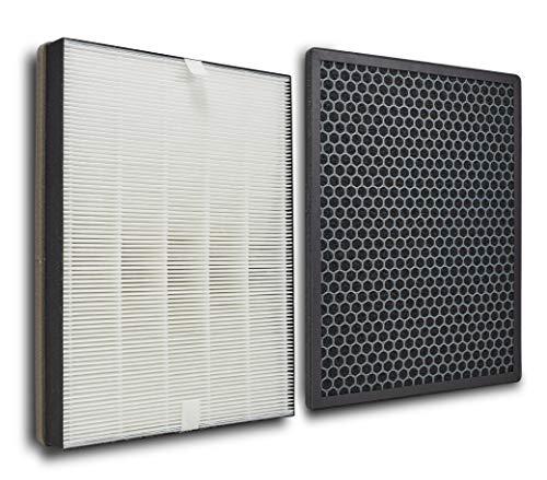 Supremery Juego de filtros de repuesto para purificadores de aire Philips AC1214/10 y AC2729/10 (Series 1000), filtro HEPA y carbón activo, alternativa a los filtros Philips FY1410/30 y FY1413