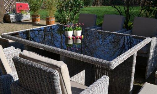 Polyrattan Rattan Geflecht Garten Sitzgruppe Toscana XL Bild 3*