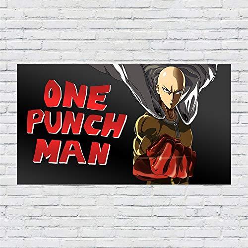 SDFSD Anime japonés One Punch Man Action Bald Man Cloak Pintura Calidad Decoración para el hogar Arte de la Pared Decoración Living Carteles Lienzo Pintura 40 * 70 cm