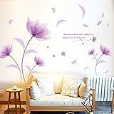 Wall Stickers Fiori Cameretta Salotto Camera Bambini Adesivi Murali Rimovibile Impermeabile Carta Da Pareti Decorazione Murales,Mambain