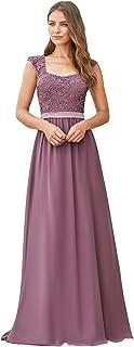 Ever-Pretty Vestiti da Cerimonia e Ballo Stile Impero Linea ad A Scollo a V Hi-Low Elegante Tulle Donna 00793