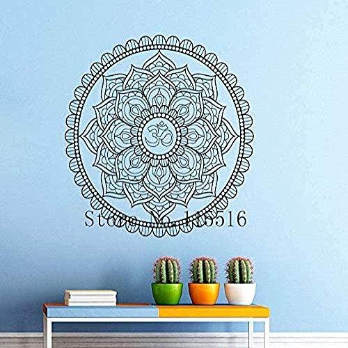 Mandala patrón decorativo yoga etiqueta de la pared cartel creativo etiqueta de la pared decoración del hogar sala de estar dormitorio puerta y ventana pegatina vinilo extraíble 22 * 22