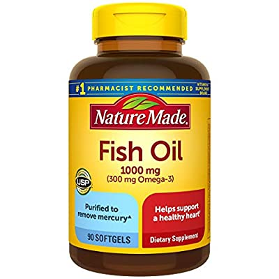 Nature Made Fish Oil 1000 mg Softgels, 320 Count for Heart Health? (Packaging May Vary)