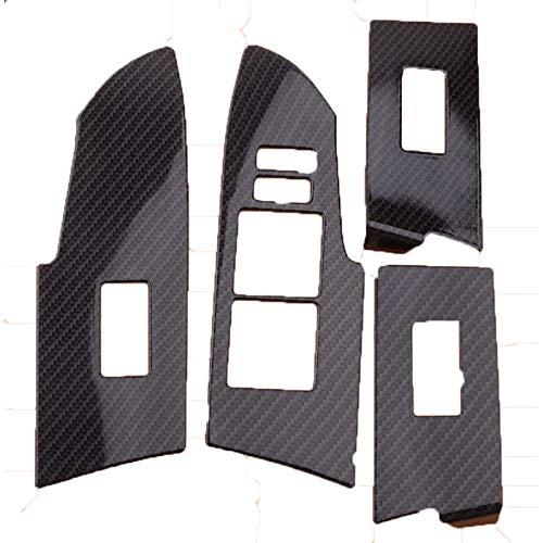 Ajuste de la cubierta del panel del interruptor de elevación de la ventana del coche ABS estilo fibra de carbono de 4 piezas, para Toyota Corolla 2014 2015 2016 2017 2018