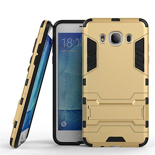 Custodia in pelle For Samsung Galaxy J5 J510,2 In 1 Armatura di ferro Robusto stile ibrido a doppio strato Armatura Defender PC + TPU Custodia rigida protettiva con supporto Custodia antiurto cabina t