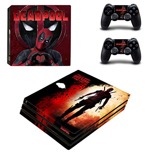 Adventure Games - PS4 PRO - Deadpool, This Is Awesome - Playstation 4 Vinyl Console Skin Decal Sticker + 2 Controller Skins Set