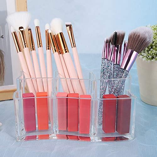 Organizador de pinceles de escritorio, caja de pinceles de maquillaje, diseño de...