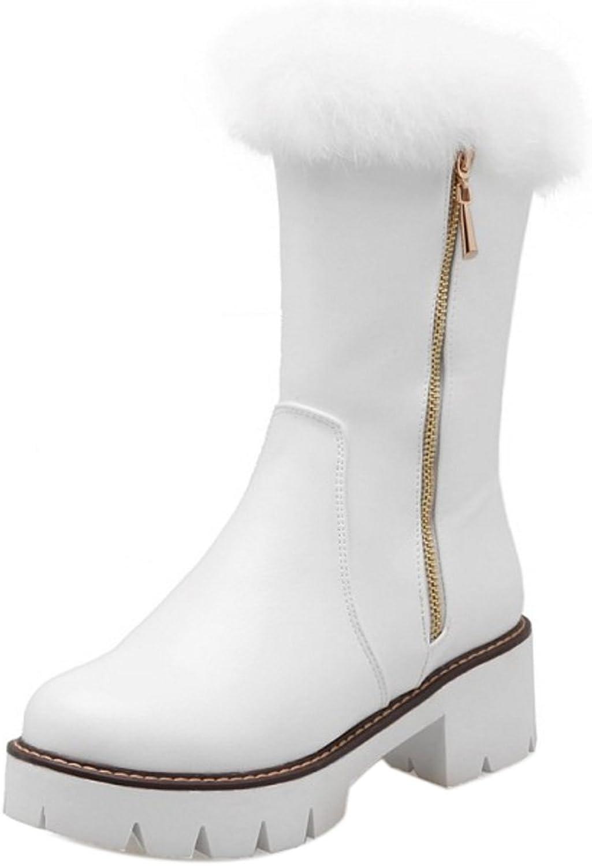 AicciAizzi Women Warm Lined Boots Zipper