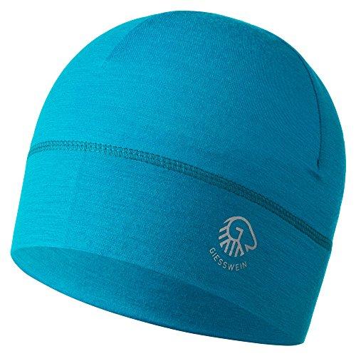 GIESSWEIN Mütze Gamsstein - Helm-Unterziehmütze aus 100% Merinowolle, Bike Cap für Damen und Herren, Sports Skull Merino Beanie, Helmkompatibel