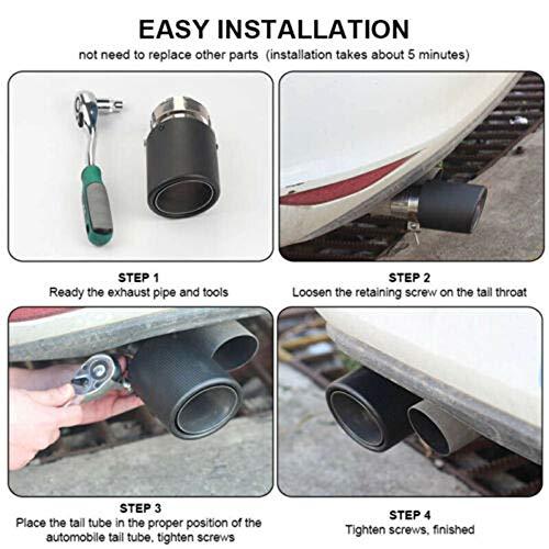 76mm 3inchs Muffler Tip Universal Replacement Exhaust Tips
