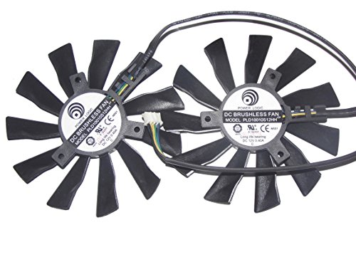 mulfan pld10010s12hh 12V 0,4A 4Draht für MSI GTX 770R9280X R9270X R7260X Graphics Video Card Fan