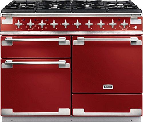 Falcon Elise 110Range Cooker Gasherd Hat Rot–Öfen und. (Range Cooker, rot, drehbar, vor, Gasherd, Stahl emailliert)