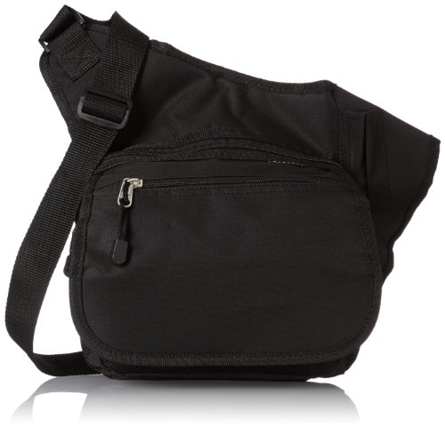 Everest Messenger Bag - Medium, Black, One Size