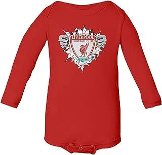 SMARTZONE Liverpool Football Club Super Hero Soccer Infant Baby Long Sleeve Bodysuit