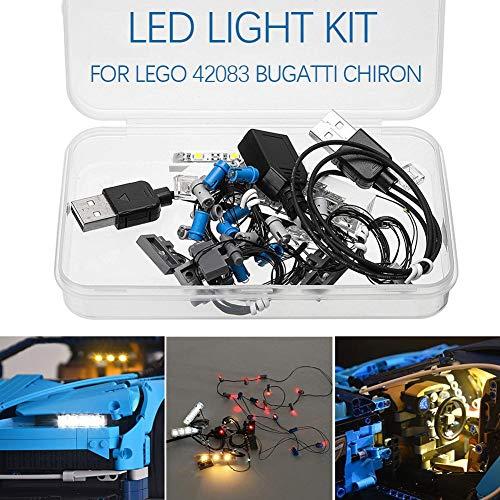 LED-verlichting LED-licht montage voor Lego ED verlichting DIY oplichtende bouwstenen accessoires LED-verlichtingseenheid voor LEGO 42083 Bugatti Chiron Technic Set bevat geen speelgoedmodellen.