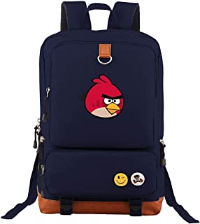 Lightweight Laptop Angry Birds Toons Backpack Leisure Travel Classic Oxford Shoulder Daypack For College Office Hiking Navy