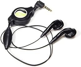 Retractable Headset Handsfree Mic Dual Earbuds Earphones Earpieces Wired Headphones 3.5mm [Black] Compatible with LG Q7 Plus Q6, Premier LTE, Lancet, K8 V K7 K30 K20 V Plus, K10, G4 B3R
