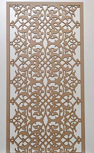 LaserKris Rejilla decorativa para pared del armario del radiador, panel de MDF perforado (4 x 2) E77M