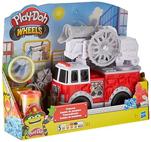 Play Doh- Wheels Camión de Bomberos, Talla Única (Hasbro E6103EU4) , Color/Modelo Surtido