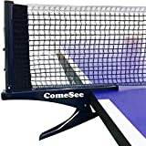 Comesee Kioos Collapsible Table Tennis Net Professional Steel Pingpong Net Clip Grip Mesh Training Competition...