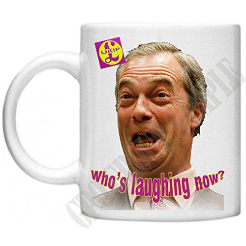 ukip, Who 's Laughing Now, brexit, Nigel farage, UK Unabhängigkeit Party, allgemeine Wahl, politisch Design Mikrowelle Spülmaschinenfest 313ml Tasse