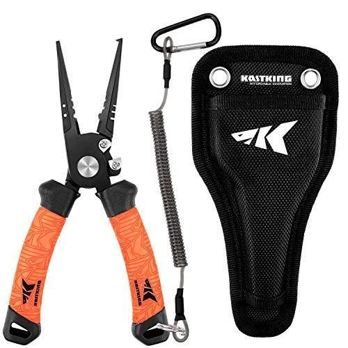 KastKing Speed Demon Pro Fishing Pliers, Split Ring Nose, 7.5 Inch.…
